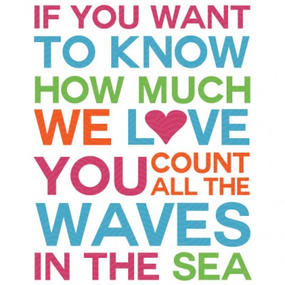 Count the Waves Print for Girls