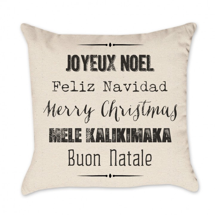 5 languages pillow cover