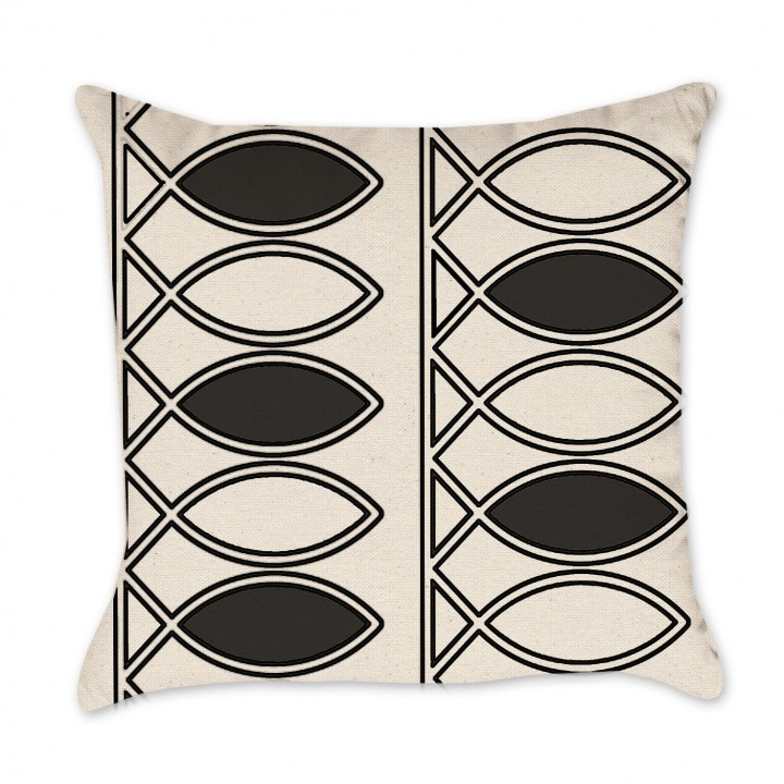 Black Line pillow cover