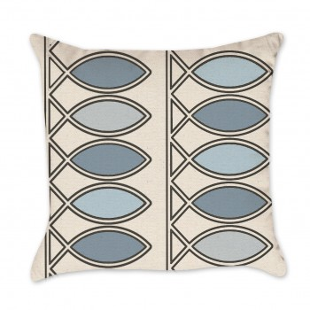 Fish art pillow cover