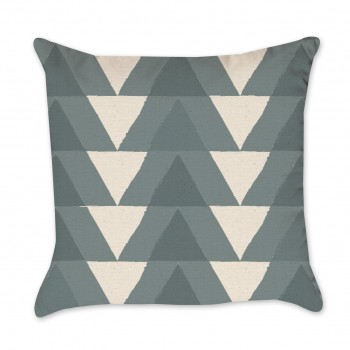 Triangle Pattern in Shades of Blue Pillow Cover