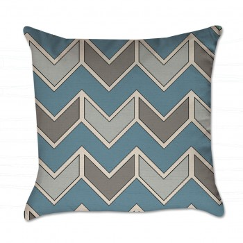 Turquoise and Gray pillow cover