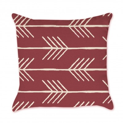 Hand Drawn Red Arrow Pillow Cover