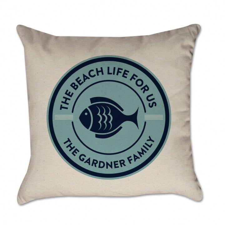 beach life pillow cover