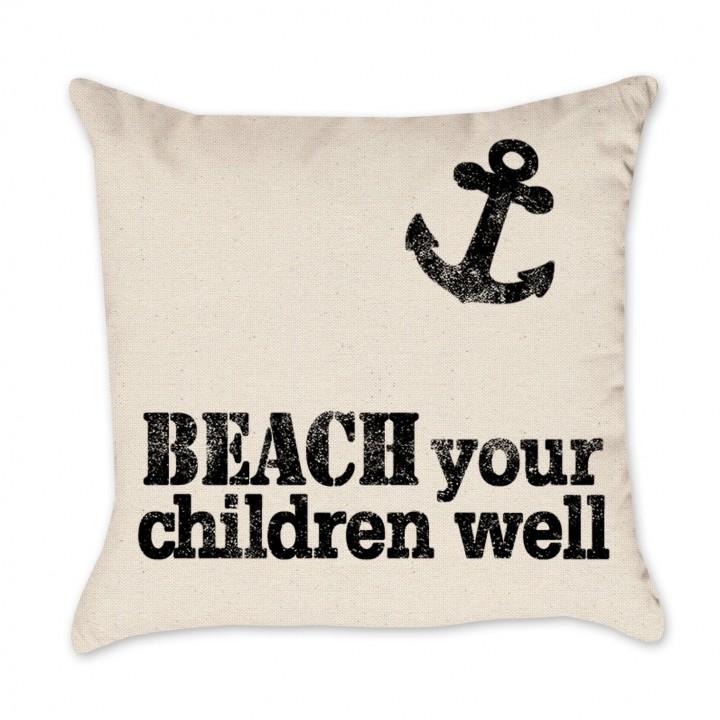beach pillow cover