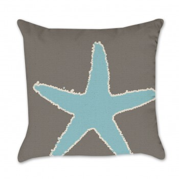 blue starfish pillow cover