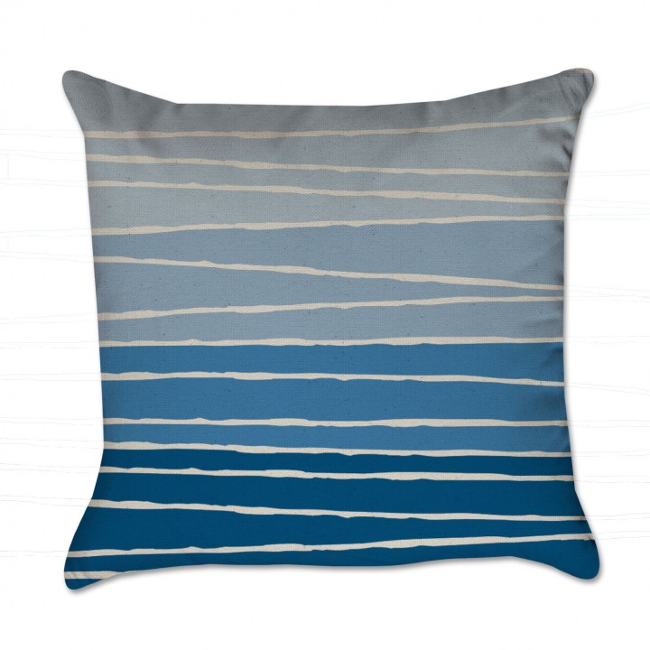 blue stripes pillow cover