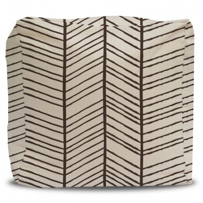 Pouf and Cover Nature's Chevron Dark Brown
