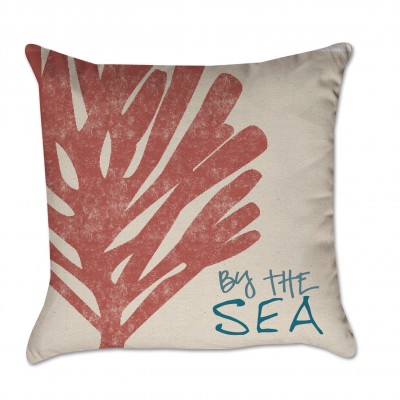 by the sea pillow cover