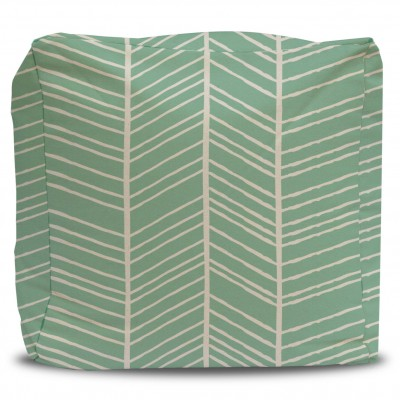 Pouf and Cover Nature's Chevron Mint