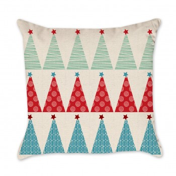 christmas tree patterned pillow cover