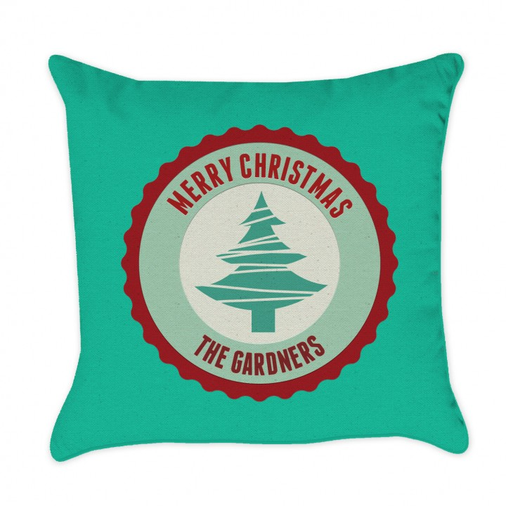 christmas pillow green