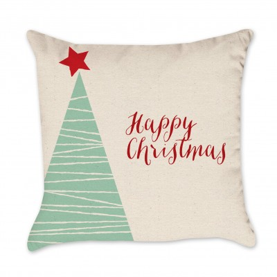 christmas tree pillow cover