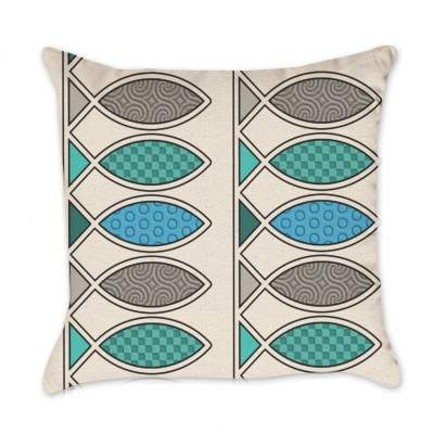 fish design pillow cover