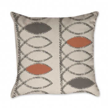 fish print pillow cover