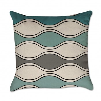 gray chevron pillow cover
