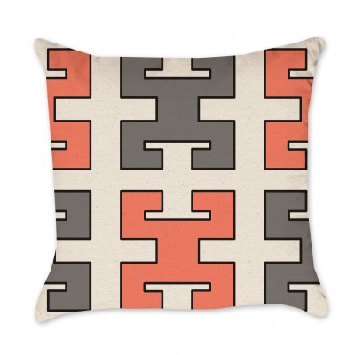 greek key pillow cover