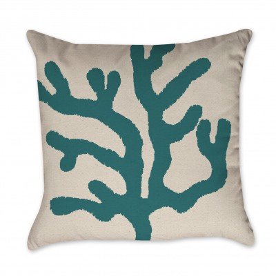green coral pillow cover
