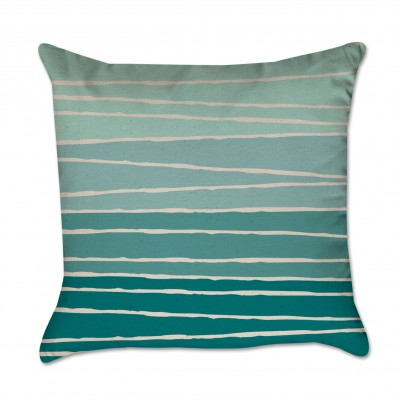 green striped pillow cover
