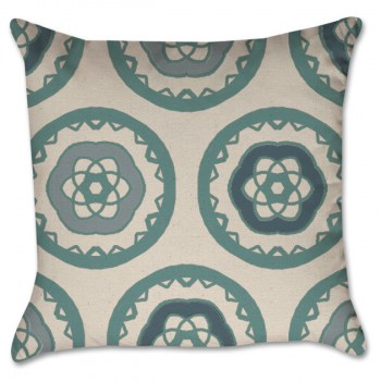 hand drawn medallion pillow cover