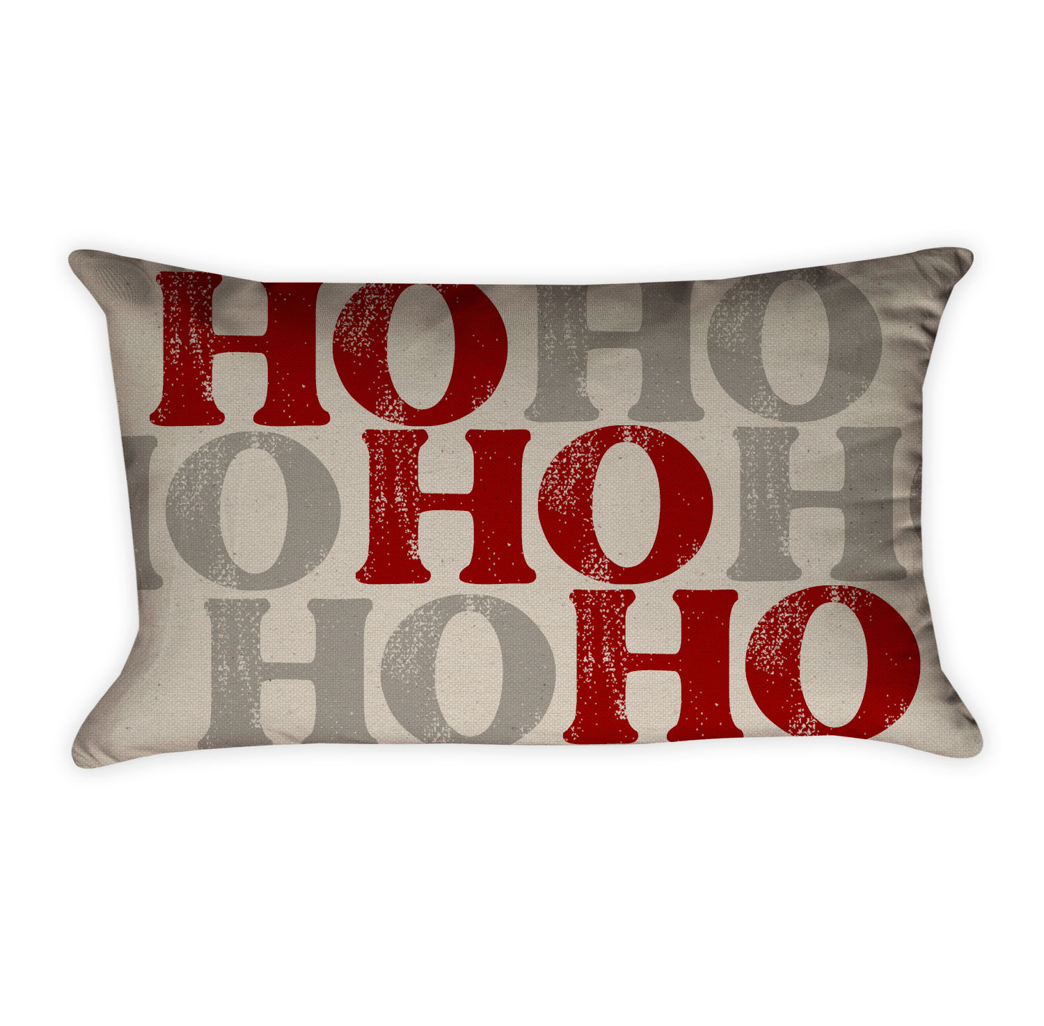"""Ho Ho Ho"""" Pillow Cover Cotton Duck Natural- Project Cottage"""