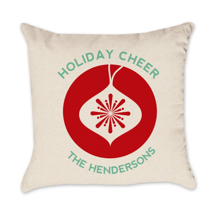 PERSONALIZED holiday cheer Pillow Cover