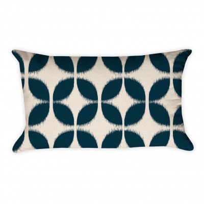 ikat pattern pillow cover