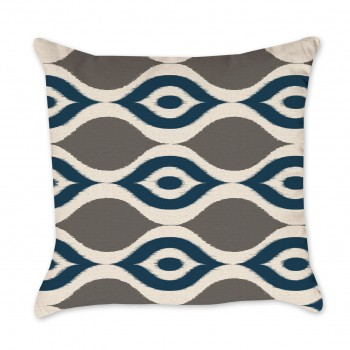 ikat waves pillow cover