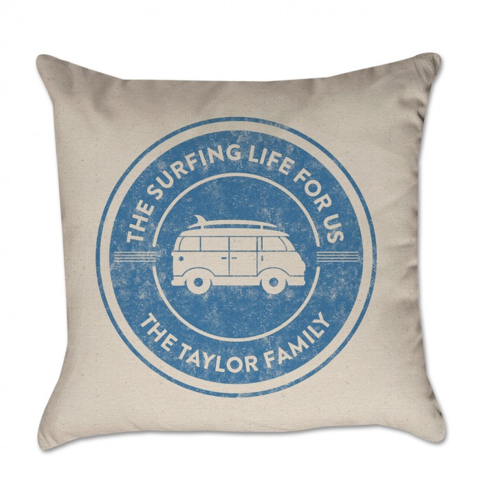 Personalized Pillow Cover Surfing Life For Us Woody Van