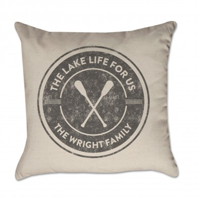 Personalized Pillow Cover Lake Life For Us Paddles