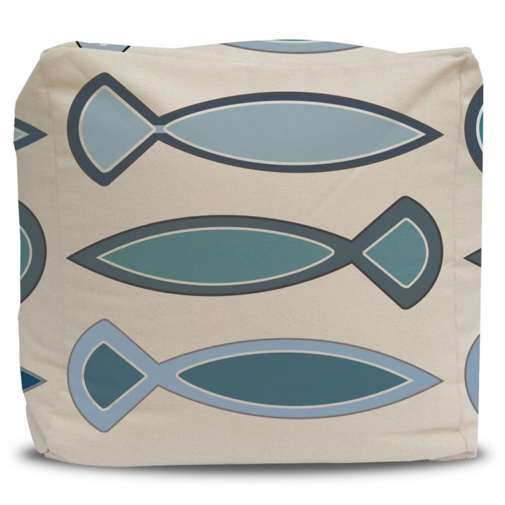 Pouf and Cover Funky Fish