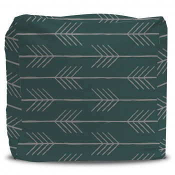 Arrow Pattern Pouf Ottoman
