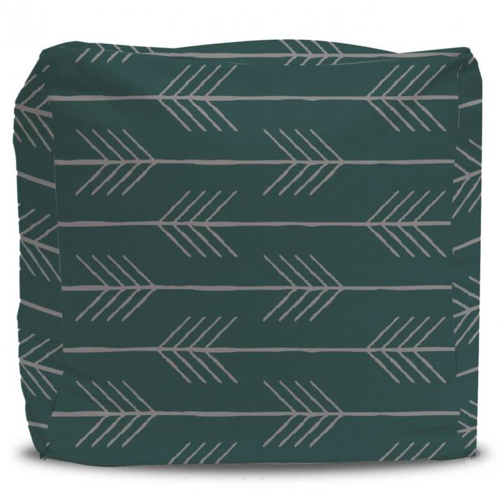 Arrow Pattern Pouf Ottoman