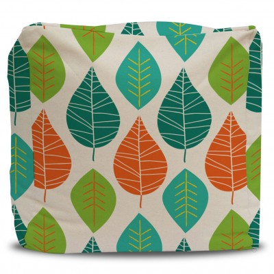 Pouf and Cover Leaf Pattern