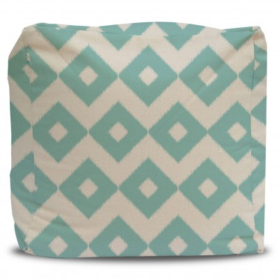 Pouf and Cover Minty Diamonds