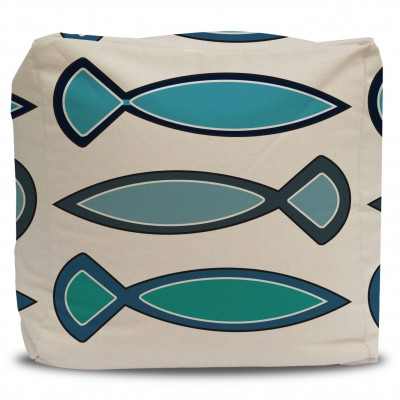 Funky Fish pouf and cover
