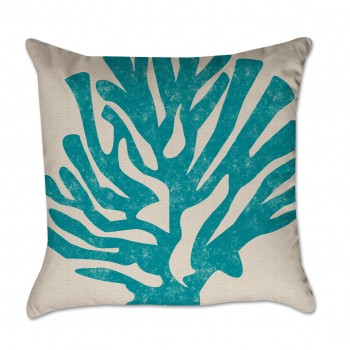 inked coral pillow cover