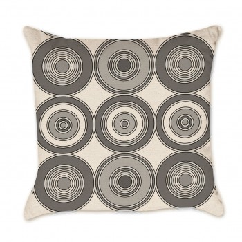 mod circle pillow cover grey