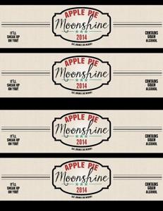 Apple Pie Moonshine Labels