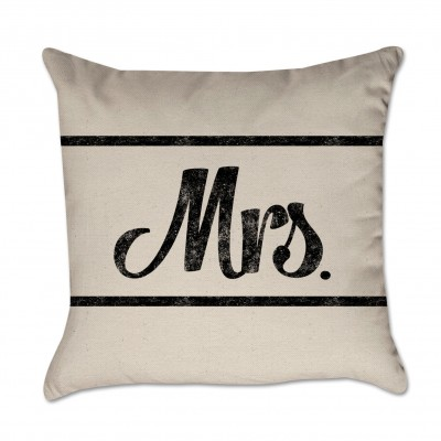 mrs pillow cover