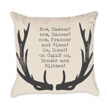 Christmas Reindeer Pillow Cover