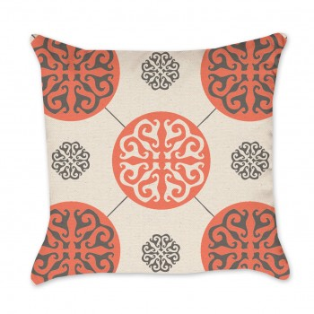 orange pillow cover