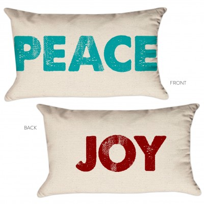peace joy pillow cover