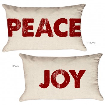peace & joy pillow cover