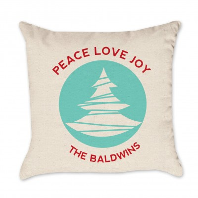 peace love joy pillow cover