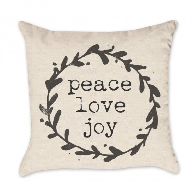 peace pillow cover (black)