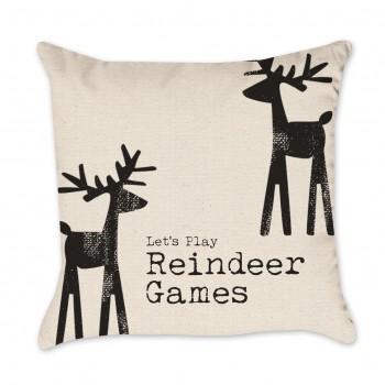 Reindeer Christmas Pillow Cover