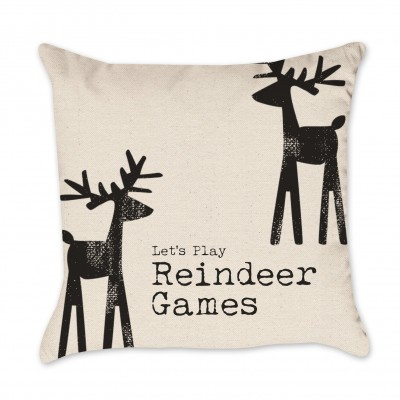 Reindeer Christmas Pillow Cover