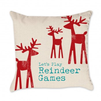 reindeer games pillow cover