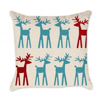 reindeer pillow cover